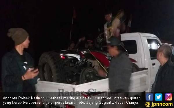 Pelaku Curanmor Lintas Kabupaten Tabrak Polisi - JPNN.com