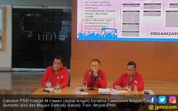 Caketum PSSI Iwan Bule Kenalkan Calon Waketumnya, Siapa? - JPNN.com