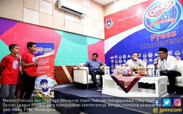 Menpora Apresiasi Okky Youth Soccer League - JPNN.com