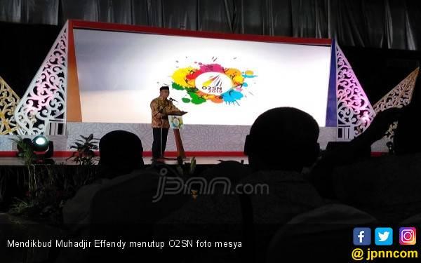 Tutup O2SN 2019, Mendikbud Joget Dangdut - JPNN.com