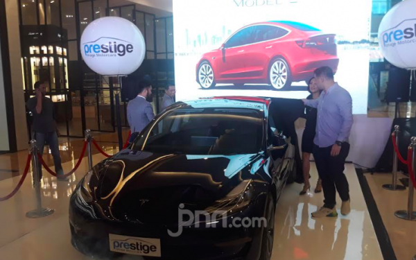 Hotman Paris Hingga Blue Bird Incar Tesla Model 3 - JPNN.com