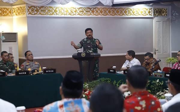 Pimpin Rakor Penanggulangan dan Pencegahan Karhutla di Riau, Begini Pesan Panglima TNI - JPNN.com
