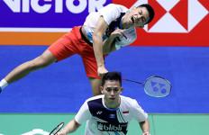 FajRi Kembali Makan Korban di Korea Open 2019, Setelah Minions, Kini Tiang Listrik - JPNN.com