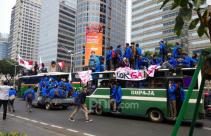 Demo Mahasiswa Bergerak, Jalan Sudirman Macet Total - JPNN.com