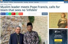 Kiai Staquf Bertemu Paus, Pers Asing Angkat Rekomendasi NU soal Kata Kafir - JPNN.com