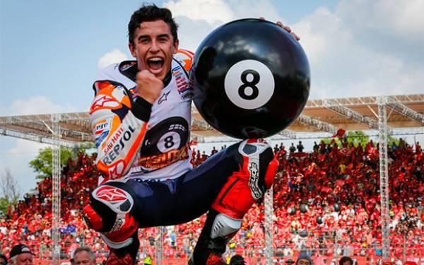 Cuplikan Lap Terakhir ThaiGP, Klasemen & Rapor Marc Marquez Si Juara Dunia 2019 - JPNN.com