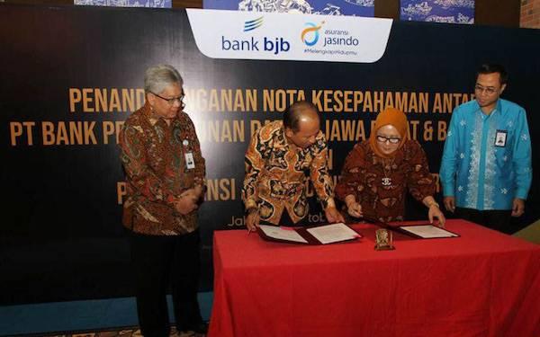 Penetrasi Bisnis, Bank BJB Teken Kerja Sama dengan Asuransi Jasindo - JPNN.com
