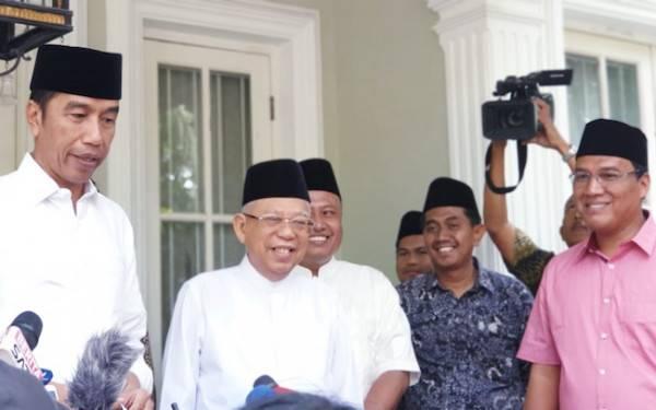 Setelah Pelantikan Presiden dan Wapres, Ma'ruf Amin Tinggalkan Jokowi - JPNN.com