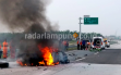 Kecelakaan Maut di JTTS, 4 Penumpang Sedan Tewas Terbakar