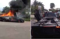 Kronologis Penyebab Mobil Lamborghini Milik Raffi Ahmad Terbakar - JPNN.com