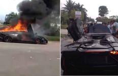 Mobil Lamborghini Raffi Ahmad Terbakar, Begini Kesaksian Warga - JPNN.com