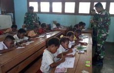 Kebijakan Cerdas Satgas Pamtas RI-PNG Bikin Siswa Antusias Belajar - JPNN.com