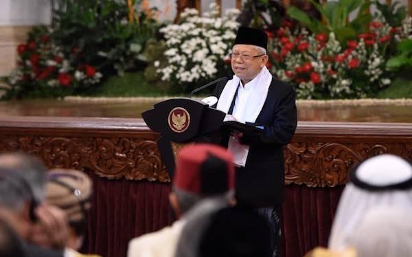 Saat Memperingati Maulid Nabi di Istana, Wapres Ma'ruf Amin Dapat Mandat dari Jokowi - JPNN.com