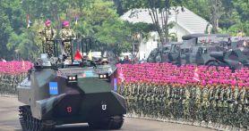 Keren! Ribuan Prajurit Ikut Parade dan Defile Saat HUT Korps Marinir
