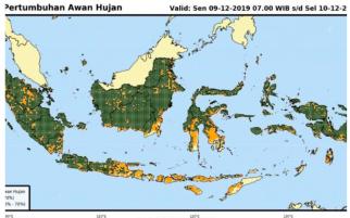 Waspada! Lampung Diprediksi Hujan Lebat dan Angin Kencang