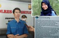 Muhamad Irawan Unggah Status Mencurigakan, Keluarga Korban Pembunuhan Mahasiswi Unib Lapor Polisi - JPNN.com