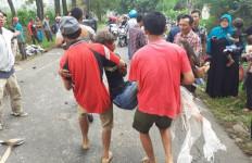 Rem Blong, Truk Tronton Bermuatan Triplek Tabrak 4 Kendaraan, 1 Tewas, 6 Luka-luka - JPNN.com