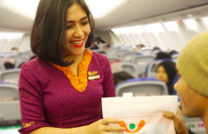 Kejutan Bingkisan Natal di Penerbangan Sriwijaya Air - JPNN.com