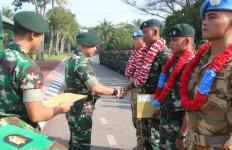 Batalion Infanteri Raider 100/PS Sambut Anggota Satgas Kontingen Garuda - JPNN.com
