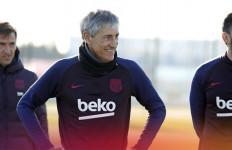 Gebrakan Quique Setien di Barcelona, Batalkan Hari Libur Lionel Messi Cs - JPNN.com