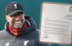 Fan Manchester United Kirim Surat Minta Liverpool Kalah, Ini Balasan Jurgen Klopp - JPNN.com