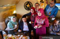 Waaah, Wapres Ma'ruf Amin Dapat Kejutan saat Pesawat Kepresidenan sedang Mengudara - JPNN.com
