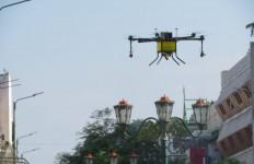 Drone Hexacopter Diterjunkan untuk Menyemprotkan Disinfektan - JPNN.com