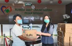 Perangi COVID-19, Yuzu Bagikan 10 Ribu Masker ke Rumah Sakit  - JPNN.com