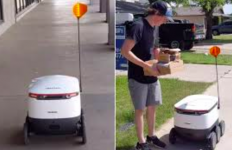 Social Distancing, Gunakan Robot untuk Antar Makanan ke Pelanggan - JPNN.com