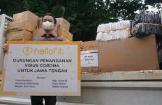 Dukung Gerakan Ganjar Pranowo, Hellofit Sumbang Masker & APD Senilai Rp750 Juta - JPNN.com