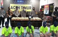 Polisi Gagalkan Peredaran 45 Kg Sabu-sabu, Lima Orang Dibekuk di Aceh Timur - JPNN.com