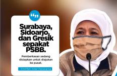 Khofifah Beri Satu Tugas untuk Bu Risma Sebelum PSBB Surabaya 28 April - JPNN.com