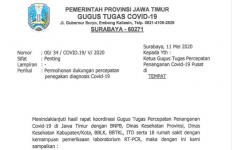 Beredar Surat Pemprov Jatim yang Minta BNPB Mengirimkan Mobil Tes PCR - JPNN.com