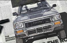 Keren, Pria Ini Melukis Mobil di AtasPotongan Koran - JPNN.com