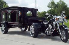 Harley-Davidson Disulap jadi Kereta Jenazah, Begini Penampakannya - JPNN.com