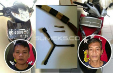 Dedi dan Candra Tepergok Polisi Tengah Dorong Motor Curian, Coba Lihat Tampangnya - JPNN.com