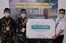 Kao Indonesia Donasikan Ribuan Alat Kebersihan ke RS Darurat Wisma Atlet  - JPNN.com