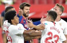 Sevilla Vs Barcelona Imbang, Gerard Pique Pesimistis Soal Gelar La Liga - JPNN.com