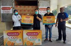 Hemaviton Sumbangkan Produknya ke RS Bhayangkara di Surabaya dan Bandung - JPNN.com