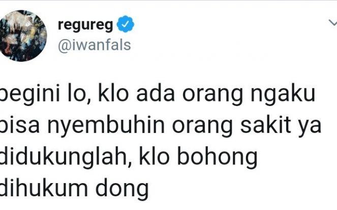 Polemik Hadi Pranoto-Anji, Iwan Fals: Kalau Bohong Dihukum Dong