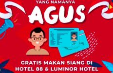 Kabar Gembira untuk yang Bernama Agus, Silakan Makan Gratis di Hotel Ini, Catat Tanggalnya! - JPNN.com