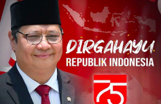 HUT Kemerdekaan RI, Menko Airlangga Ajak Masyarakat Berjuang Hentikan Covid-19 - JPNN.com