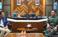 Akrabnya Pertemuan Jenderal Andika dan Sandiaga Uno, Apa yang Dibahas? - JPNN.com