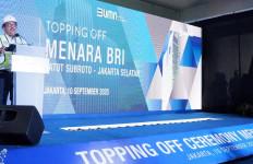 PT PP Lakukan Topping Off Ceremony Menara BRI Gatot Subroto - JPNN.com