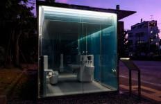 Ada Toilet Umum Transparan di Taman, Siapa Berani Masuk? - JPNN.com
