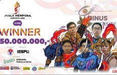 Tim Binus University Raih Juara Piala Menpora Esports 2020 Axis  - JPNN.com