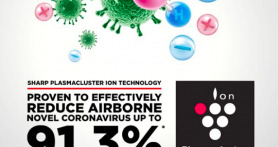 Teknologi Plasmacluster Sharp Terbukti Efektif Turunkan Risiko Penularan Virus Melalui Udara