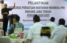 Hadiri Pelantikan Pengurus PWI Jateng, Ganjar Pranowo Berpesan Begini - JPNN.com