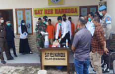 Satgas Pamtas RI-Malaysia Bersama Polres Bengkayang Musnahkan Barang Bukti Narkoba - JPNN.com