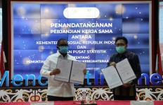 Sekjen Kemensos dan Sestama BPS Teken PKS Pemutakhiran DTKS - JPNN.com